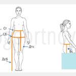 Мерки для построения выкройки основы женских брюк