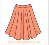 Построение выкройки юбки солнце