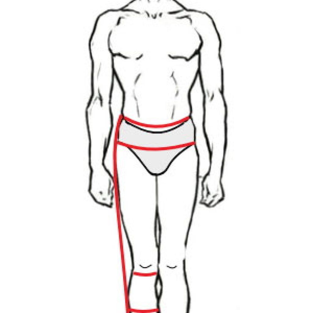 Таблица мерок мужских брюк