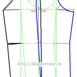 Построение рукава с верхним и нижним швами