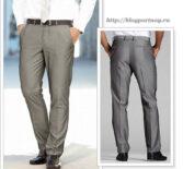 Построение выкройки мужских полуприлегающих брюк