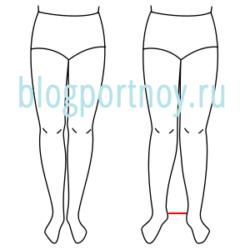 Построение выкройки-основы женских брюк на фигуру с Х-образным строением ног