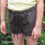 Выкройка детских шорт