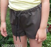 Шьем детские шортики