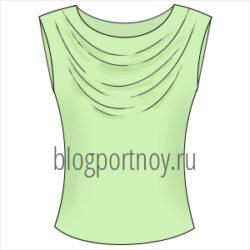 Моделирование блузы с вырезом «качели»