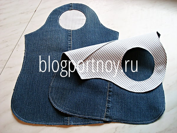Сумка из старых джинсов с выкройкой