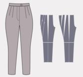 Моделирование брюк, объемных по бедрам