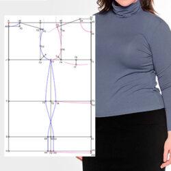 Сложности построения выкройки водолазки на фигуру с большой грудью